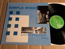 SIMPLE MINDS - SISTER FEELINGS CALL - LP - EUROPE 1984 (G192)