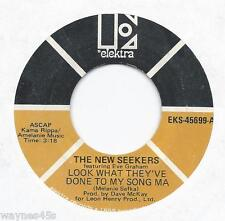 NEW SEEKERS * 45 * Look What They've Done To My Song * 1970 * UNPLAYED MINT NOS