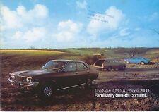Toyota Corona Mark Ii 2000 Saloon Estate 1974 Original del Reino Unido folleto de ventas
