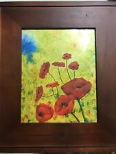 Original ink and acrylic poppies