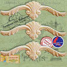 Resin / Wood Furniture Appliques 3 x Shabby Chic French Provincial Moldings