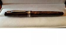 Delta Fusion 82  Medium 18k Gold fusion nib Fountain Pen Marbled Brown