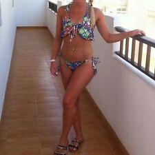 Women's ASOS Floral Frill Bikini Size 6