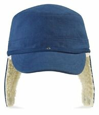 DENIM BLUE Fleece Lined Warm Winter Baseball Cap Hat with Ear Flaps