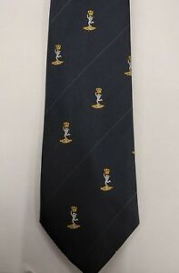 Royal Signals Logo Tie, Sigs Cap Badge Polyester, Army, Military, Present, Gift