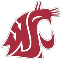"Washington State Cougars Color Vinyl Decal Sticker - You Choose Size 2""-28"""