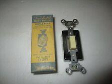 Rodale vintage electrical part Touchette push-button quiet light switch Ivory