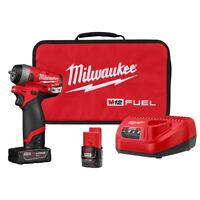 "Milwaukee 2552-22 M12 Fuel 1/4"" Impact Wrench Kit"