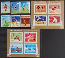 YEMEN 1982 OLYMPICS, Cpl. XFMNH** Sheets + Set, Olympiade Sports, Athletics