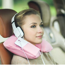 Inflatable Car Travel Neck U Shape Pillow Air Blow Up Cushion Washable Cover