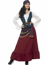 Deluxe Pirate Buccaneer Beauty Costume, Small, Fancy Dress, Womens, UK 8-10