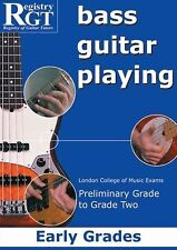 BASS GUITAR PLAYING, EARLY GRADES - NEW PAPERBACK BOOK