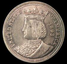 1893 ISABELLA COMMEMORATIVE SILVER QUARTER BU UNC PURPLE TONING US COIN