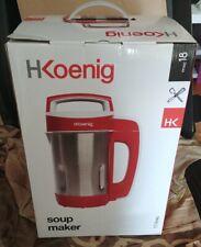 H.Koenig Soup Maker Chauffant Mxc18, 1.1L 850W Inox, Blender Multifonction soupe
