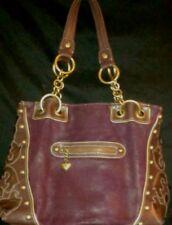 Kathy Van Zeeland Maroon Burgundy Designer Handbag Hobo Shoulder Bag Purse
