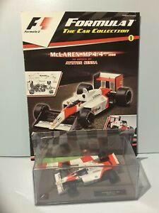 AYRTON SENNA Mclaren MP4/4 - 1988 1:43 Scale PANINI Formula 1 Car collection #1