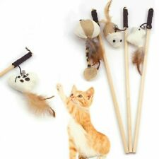 1Pc Pet Cats Teaser Toys Feather Wand Cats Catcher Teaser Stick Interactive Toys