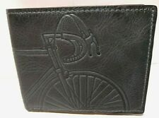 Fossil Bicycle Mens Wallet Royer Bifold Flip ID Bike RFID Blue Leather NWT