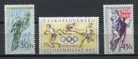 37040) Czechoslovakia 1956 MNH Olympic,Basketball,Cyclists