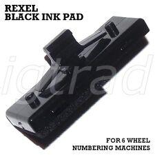 1 X Black Ink Pad per 6 RUOTE numerazione Macchine REXEL un12/15 TRODAT 5746/5756