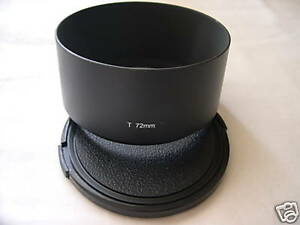 New Metal Telephoto 72mm Screw-in Lens Hood + Cap Tele