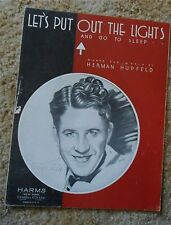 Let's Put Out the Lights - Rudy Vallee   Sheet Music 1932