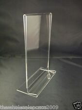 A5 Perspex Menu Display Stands Acrylic Price List Holder Double Sided Upright