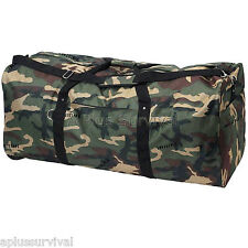 """Extreme Pak Invisible Pattern Camo Water Repellent 39"""" Duffle Tote Bag Survival"""