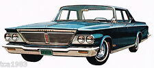 1964 CHRYSLER Brochure / POSTER: NEW YORKER,300,NEWPORT,