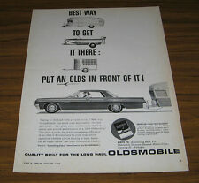 1963 Vintage Ad '63 Oldsmobile Pulls Travel Trailer Olds Best Way to Tow