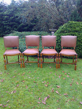 Set of Four Mid Century Oak Dining Chairs