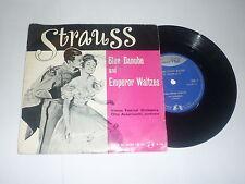 """JOHANN STRAUSS WALTZES - 1961 UK  label 2-track 7"""" single"""