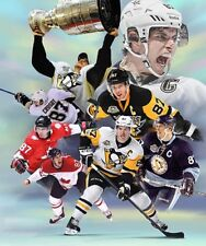 Sidney Crosby : giclee print on canvas poster painting for autograph  B-4071