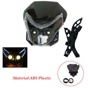 Motorcycle modification Front LED Cover Fairing Dual Street Fighter Headlight