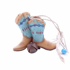 Texas Cowboy Boots Southwest Western Spurs Cowgirl Ornament Figurine Gift Boxed