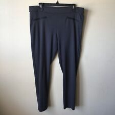 Gap Women's Leggings Pants Size XL Charcoal Gray Leather Trim on Faux Pockets