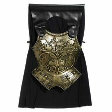 Adults Men's Roman Gladiator Chest Breast Plate with Cape - Fancy Dress Costume
