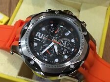 20072 Invicta 52mm Mens Speedway Swiss Quartz Chronograph Orange Strap Watch