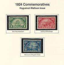 614-16 1924 HUGUENOT-WALLON ISSUE  MINT
