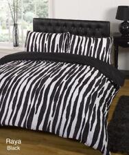 Linge de lit et ensembles noir avec des motifs Rayé