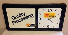 KODAK STORE DISPLAY CLOCK VINTAGE ADVERT. QUALITY PROCESSING PRODUCTS BY KODAK