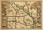 Historical Map the Country Club District Kansas City, Missouri Wall Art Poster