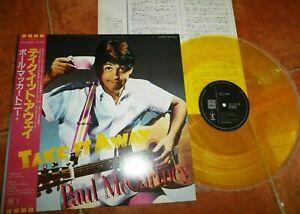 PAUL MCCARTNEY - Take It Away w/OBI YELLOW VINYL rare Japanese pressing NEW
