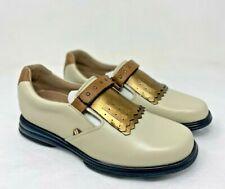 New Sandbaggers Royal kilt Cream Women's Golf Shoes Size 9.5
