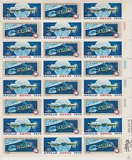 Us stamps, Mint Sheet (24), Apollo Soyuz 1975 two stamps, Scott # 1569 - 70