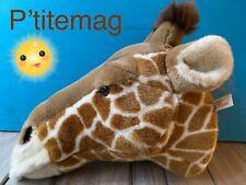 Décoration chambre enfant Tête peluche animaux trophee Girafe Ruby Savane Ttbe