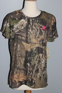 New Ladies MOSSY OAK Break-Up Country Short Sleeve Shirt Womens M L XL 2XL Camo