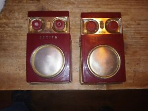 Lot of 2 Vintage Zenith  Royal 500 D Long Distance Transistor Radios untested