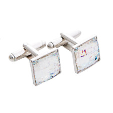 Swarovski® Crystals White Patination cuff link new collection | Gift box free