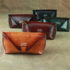Cow Leather Glasses Soft Case Sunglasses Protector Holder Eyeglasses Storage Bag